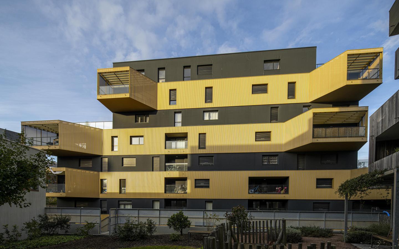 Equatoria, construction neuve à Rennes réalisée avec des menuiseries alu K-LINE.