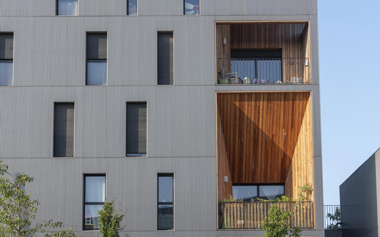 Concert'o, construction neuve à Bordeaux réalisée avec des menuiseries alu K-LINE.