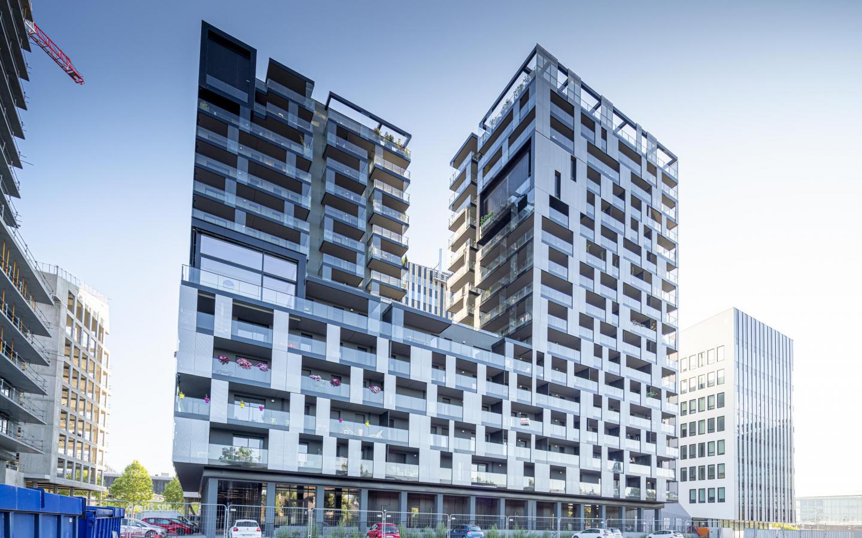 Skyplace, construction neuve à Strasbourg réalisée avec des menuiseries alu K-LINE.