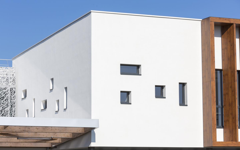 Collège Charles Milcendeau, construction neuve à Challans réalisée avec des menuiseries alu K-LINE.