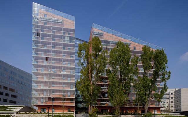 Le Romarin Euralille, construction neuve à Lille réalisée avec des menuiseries alu K-LINE.