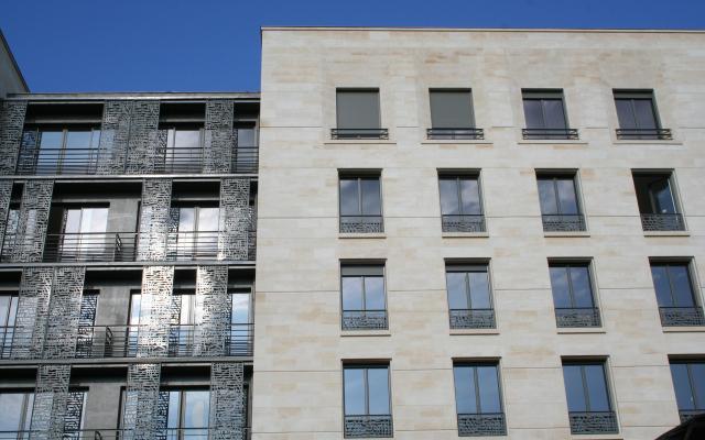 Ilot Bonnac, construction neuve à Bordeaux réalisée avec des menuiseries alu K-LINE.